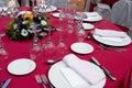 Czerwony położenie stół Zdjęcie Stock