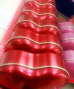 Czerwony serce liniowa linia walentynki Obrazy Stock