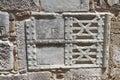 Détaillez l image d un mur antique de grèce Photo stock