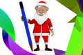 D人圣诞老人铅笔例证 免版税图库摄影