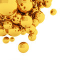 D abstract spheres rendering gold Royalty Free Stock Photography