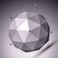 3D Abstract Spherical Object W...