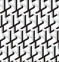 D abstract stars geometric vector seamless pattern black and white can be used as background Stock Photo