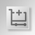 3D Add Cart Contents icon Business Concept Royalty Free Stock Photo
