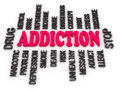 D addiction message substance or drug dependence conceptual design Royalty Free Stock Photos