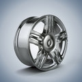 D alloy wheel on white background Stock Image