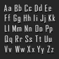 3d Alphabet set white font on a black background. Vector illustration
