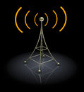 D antenna illustration of over black background Stock Image