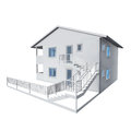 D architecture model of a house Royalty Free Stock Images