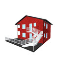 D architecture model of a house Royalty Free Stock Photo