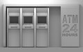 D atm matchine house units Stock Images