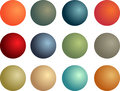 D balls vector illustration of shiny Stock Photos
