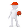 3d basketball player with the ball Royalty Free Stock Photo