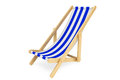 D beach chair on a white background Stock Photography