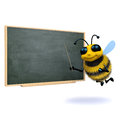 D bee teacher render of a at a blackboard Stock Photo