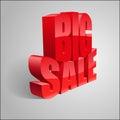 3D Big Sale illustration.