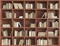 3d bookshelf Royalty Free Stock Photo