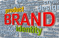 D brand wordcloud illustration of words tags of Royalty Free Stock Photography