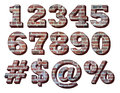 3-D Brick Numbers Royalty Free Stock Photo