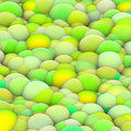 D bubble balls backdrop in green yellow Stock Photo