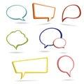 D bubble speech eps set Stock Images