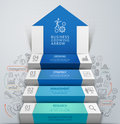 3d business arrow step staircase infographics. Royalty Free Stock Photo