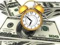 3D Business concept `time is money`