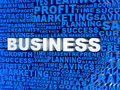 D business mosaic with related words Royalty Free Stock Photos