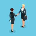 3d businesswomen came to an agreement and completed the deal wit