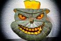 3D carved Halloween pumpkin