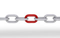 D chain one part red Royalty Free Stock Image