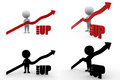 D character grow up concept collections with alpha and shadow channel included in Royalty Free Stock Image