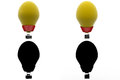 D character hot air balloon concept collections with alpha and shadow channel included in Royalty Free Stock Image