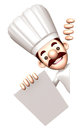 D chef character is holding paper documents work and job design series Royalty Free Stock Photos