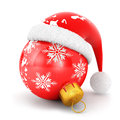 D christmas bauble white background image Stock Images