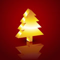 D christmas tree vector style Royalty Free Stock Photography