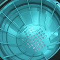 3d Close up of a nuclear reactor core Royalty Free Stock Photo