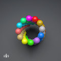 3d Colorful Spheres Composition. Vector Template. Technology Style Royalty Free Stock Photo