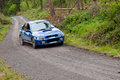 D. Creedon driving Subaru Impreza Stock Photo
