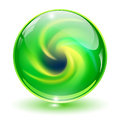 3D crystal, glass sphere Royalty Free Stock Photo