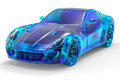 3D Crystal Sport Car