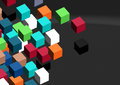 3D cubes abstract background; Royalty Free Stock Photo