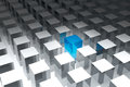 D cubes many in a row Royalty Free Stock Photography