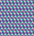 D cubes seamless pattern optical illusion retro Stock Images