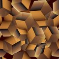 3d cubes seamless pattern. Vector geometric modern surface background. Repeat flying cubes backdrop. Geometrical bricks ornament.