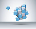 D cubes vector illustration of Royalty Free Stock Images