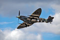 D-Day Spitfire fighter plane Stock Images