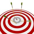 image photo : 3d deadline target with arrows