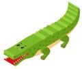 3D design for crocodile
