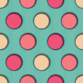 D dots seamless background till with stripes and cut out dot effect this file is vector eps and uses transparencies and clipping Royalty Free Stock Image